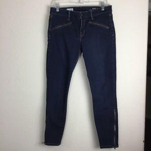 GAP 1969 Skinny Moto Zip Jeans